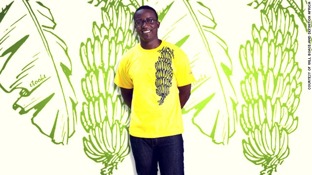 A picture of a matooke, a staple food in central and south western Uganda is featured on this t-shirt as part of the company's <i>In Your Face</i> series.
