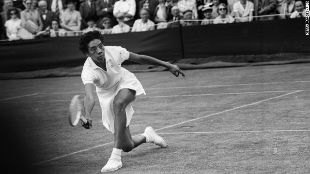 Gibson won the French Open in 1956 before winning both Wimbledon and U.S. Nationals crowns in 1957 and 1958.