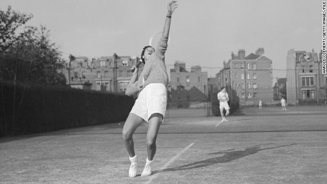 Althea Gibson was an 11-time grand slam champion and the first prominent black competitor in women's tennis.