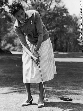 "After retiring from tennis in late 1958, Gibson became a professional golfer, released a solo album of songs and tried her hand at acting, featuring in the film ""Horse Soldiers"" with John Wayne."