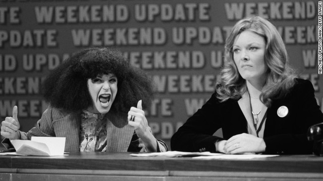 "In 1975, ""Saturday Night Live"" debuted and introduced viewers to history-making comedians like Gilda Radner, left, and Jane Curtin, who were part of the original ""SNL"" cast. The duo put in place some of the most iconic sketches to date, from the coneheads to Baba Wawa. Post-""SNL,"" both were poised for screen success, but Radner's career was cut short by her death in 1986. Curtin, meanwhile, went on to star in sitcoms like ""Kate & Allie"" and ""3rd Rock From The Sun."""