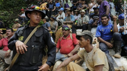 Trapped Nicaragua miners led to safety