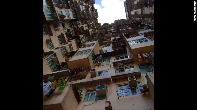 """HONG KONG: """"High-rise living in the worlds most densely populated city."""" - CNN's Brad Olson. Follow Brad (<a href='http://instagram.com/cnnbrad' target='_blank'>@cnnbrad</a>) and other CNNers along on Instagram at <a href='http://instagram.com/cnn' target='_blank'>instagram.com/cnn</a>."""