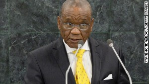 Thomas Motsoahae Thabane, Prime Minister of Lesotho, addresses the 68th United Nations General Assembly at U.N. headquarters on September 26, 2013 in New York City.