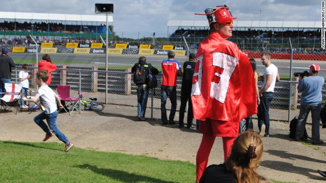 Marquez fans were out in force at Britain's Silverstone circuit, underscoring the growing popularity of the youngest ever MotoGP champion.