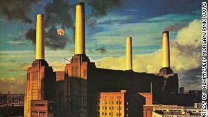 Battersea Power Station as depicted on the cover of Pink Floyd\'s album \