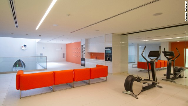 The house is also home to all the usual luxury features, including a gym.