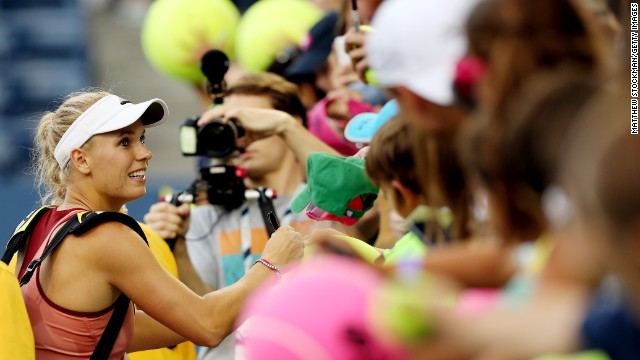 Wozniacki was the clear crowd favorite against Sharapova, likely the result of being dumped by golfer Rory McIlroy in May. The two were reportedly due to get married later this year in New York.