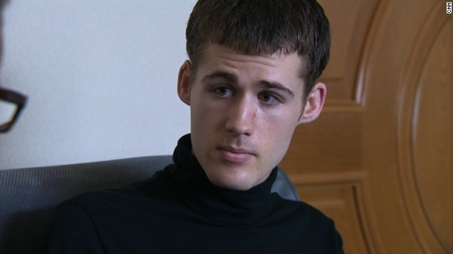 Matthew Todd Miller, one of three Americans detained in North Korea, spoke to CNN's Will Ripley on Monday, September 1, and implored the U.S. government for help. The 24-year-old is accused of tearing up his tourist visa and seeking asylum upon entry. Dressed in a black turtleneck and often avoiding eye contact, Miller told CNN he has admitted his guilt -- even though he won't learn of his charges until he goes to trial.