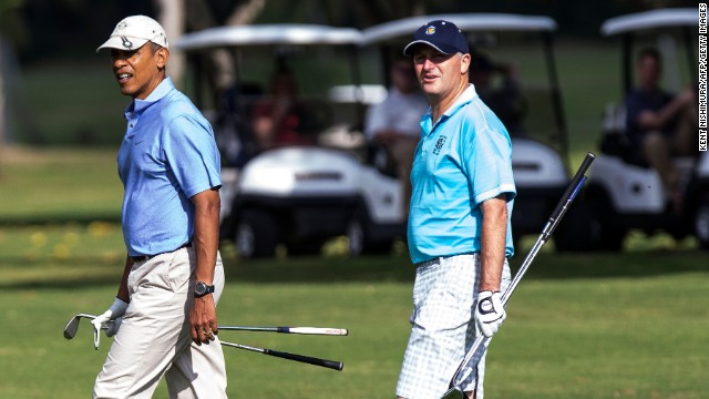 Obama has played golf with leaders from across the world including New Zealand's Prime Minister John Key.