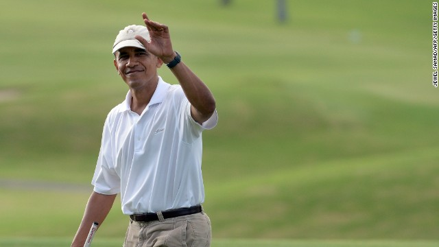 Obama follows in the footsteps of Presidents past who have all enjoyed time on the golf course.