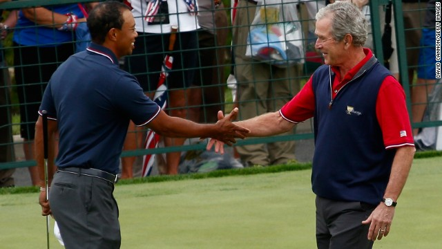 George W. Bush was a keen golfer although he says he refrained from playing while U.S. troops were in action in Iraq and Afghanistan.