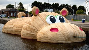 Giant inflatable duck artist's next big thing: Hippos