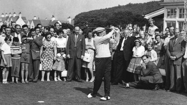 President Dwight Eisenhower enjoyed hundreds of rounds at Augusta where the Masters is held each year. He is credited with helping popularize the sport during his eight-year tenure between 1953-1961.