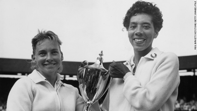 They also teamed up to win the women's doubles title that year at the prestigious grass-court tournament in London.