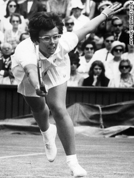 "American tennis legend Billie-Jean King, who lifted her first Wimbledon title eight years after Gibson retired, says her compatriot was a great inspiration -- a ""she-ro"" -- and she helped raise $50,000 to make her later life more comfortable. Gibson made no money in tennis and suffered ill health in her declining years."