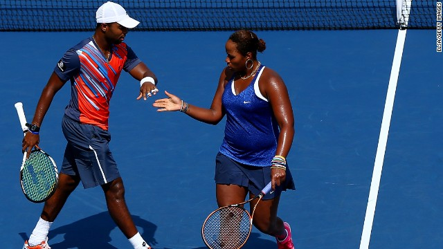 Teenager Taylor Townsend, who is coached by Garrison, is seen as another rising U.S. women's star. She is pictured here with mixed doubles partner Donald Young -- a former junior boys world No. 1 -- at the 2014 U.S. Open.