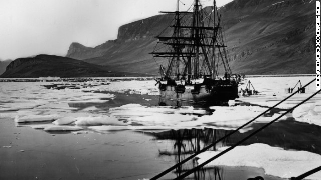 "Following Franklin's doomed expedition, other UK vessels followed later in the 19th century -- including HMS Alert, seen here, which formed half of the ""British Arctic Expedition"" in the mid-1870s."