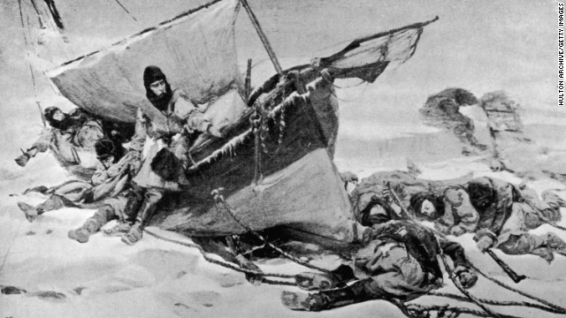 This painting, by W Turner Smith, illustrates the hardships facing the 129 crew members who took part in Franklin's doomed expedition to traverse the Northwest Passage.