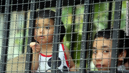 Child refugees held in Thailand