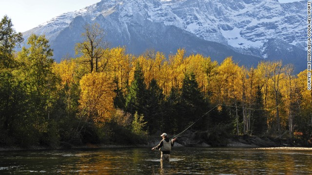 Trout can be caught year round in the Bella Coola Valley. If you're going to test your patience with fishing, you should also have a majestic scene in the Atnarko River to enjoy.