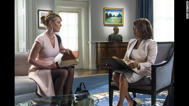 "On ""State of Affairs,"" Katherine Heigl, left, is a CIA staff member who briefs the President on security issues."