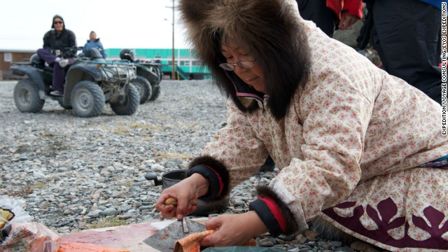 """You're never going to have 100% agreement,"" admits Clare Kines (not pictured) from the hamlet of Arctic Bay in Nunavut, when asked how disruptive the developing tourism industry can be. ""These are very traditional communities. Hunting and being on the land are very important -- concern about that trumps everything."""
