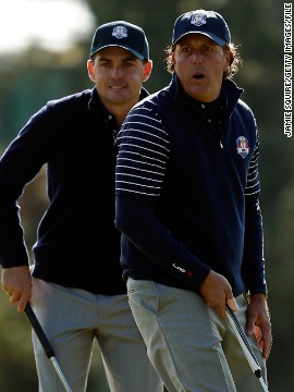"Bradley returned three points out of four in his first Ryder Cup, forming a strong partnership with five-time major champion Phil Mickelson. But he lost his Sunday singles match to Rory McIlroy as Europe overturned a 10-6 deficit to win 14 ½ to 13 ½. He said: ""I think this is a redemption year for a lot of guys who were on the team in 2012."""