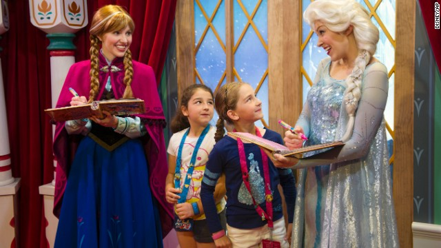 Disney quickly added the Anna and Elsa characters to its theme parks. The wait to meet the two got to be as long as six hours at Epcot and <a href='https://movies.yahoo.com/blogs/yahoo-movies/frozen-out--one-reporter-s-tortured-quest-to-meet-disneyland-s-anna-and-elsa-203635415.html' target='_blank'>almost as long at Disneyland</a>.