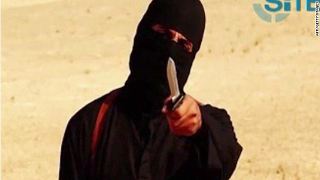 A masked militant holding a knife gestures at the camera before beheading 31-year-old U.S. writer Steven Sotloff.