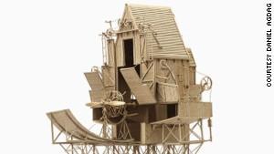 Cardboard fantasy steampunk contraptions
