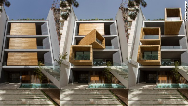 The house is located in Tehran's leafy Darrous district -- considered one of the most affluent and fashionable.