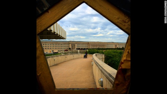 "WASHINGTON: ""Pentagon via Pentagon fence...leaving the Pentagon this morning after interviewing Rear Admiral Kirby for CNN's New Day."" - CNN's Khalil Abdallah, September 3. Follow Khalil (<a href='http://instagram.com/madcameraman' target='_blank'>@madcameraman</a>) and other CNNers along on Instagram at <a href='http://instagram.com/cnn' target='_blank'>instagram.com/cnn</a>."