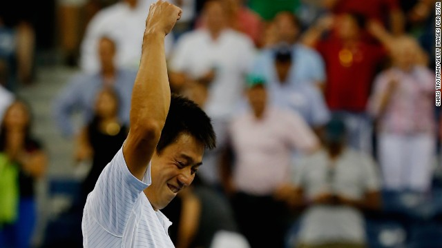 Nishikori followed that up by defeating Australian Open champion and world No. 4 Stan Wawrinka in another five-set battle to set up a semifinal clash with top-ranked Novak Djokovic.