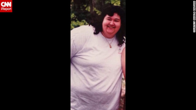 At her heaviest, <a href='http://ireport.cnn.com/docs/DOC-1164820'>Angela Baldwin</a> was 350 pounds. Baldwin says she was overweight for her entire life.
