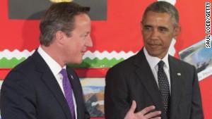 British Prime Minister David Cameron and U.S. President Barack Obama