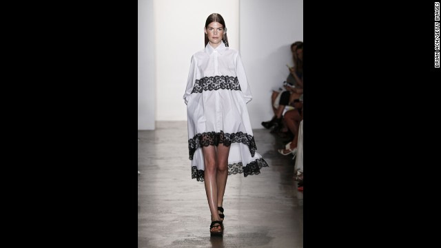 This piece by Houghton combined two trends into one: the classic button-down and the tent dress silhouette.