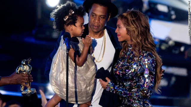 "At the 2014 MTV Video Music Awards, Beyonce was awarded with the Michael Jackson Vanguard Award, which is given to ""exemplary musicians who have made an incredible and long-lasting impact on pop culture."" The singer accepted the award on August 24, 2014 from her husband, Jay Z, and daughter, Blue Ivy."