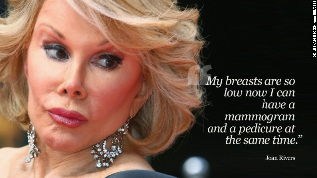 Joan Rivers Fashion Police Best Jokes Joan Rivers In her own words