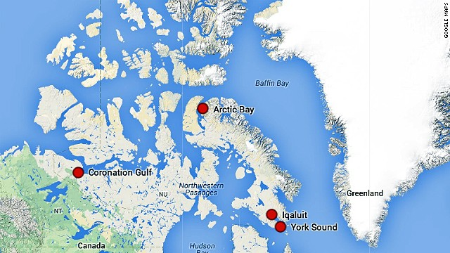 Map: The Northwest Passage