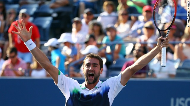 Marin Cilic clinched his place in the semifinals of the U.S. Open with victory over Tomas Berdych.