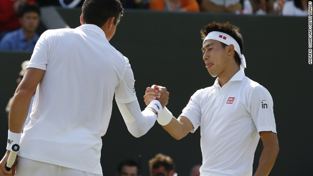 Nishikori then made his deepest run at Wimbledon, before losing in the fourth round to Canada's Milos Raonic.