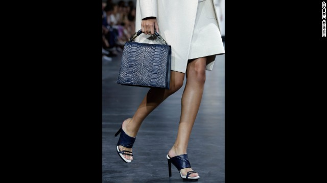 Jason Wu also unveiled his new handbag collection in the same neutral, navy and army green palette.