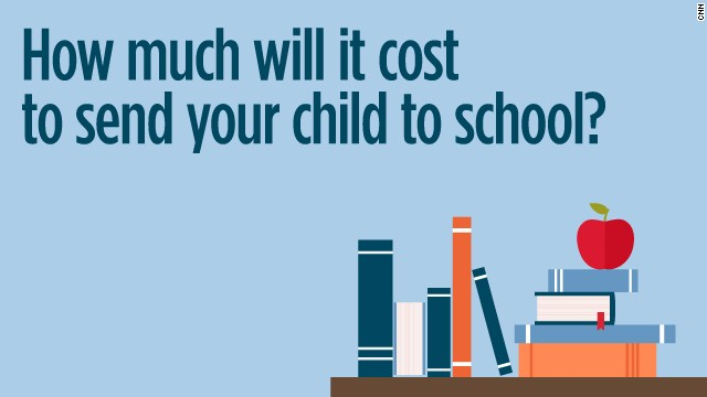 CNN has crunched the average cost of a child's annual school year.