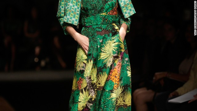 Tracy Reese also showcased cactus flower prints in her collection.