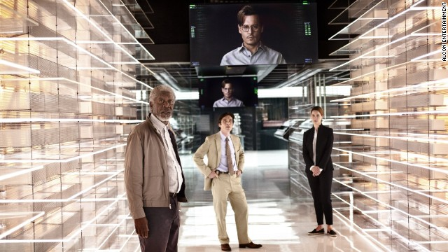 "In ""Transcendence,"" Johnny Depp plays Dr. Will Caster, an artificial-intelligence researcher whose consciousness got uploaded to the Internet."