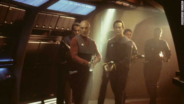 "The storyline of ""Star Trek: First Contact"" involves a battle between the Federation and the Borg, a collective of cybernetic beings. Patrick Stewart reprises his role as Captain Jean-Luc Picard leading the humans."