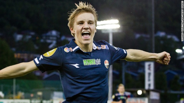 Odegaard was given his senior debut for Norwegian club Stromsgodet at the age of 15 by coach Ronny Delia, who has since moved to Scottish champion Celtic.