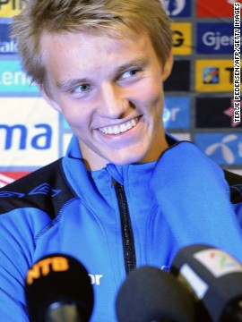 """Odegaard was the youngest player to represent his country since 1910. """"The good thing about Martin is that he always want to be better and is never satisfied,"""" says Hans Erik."""