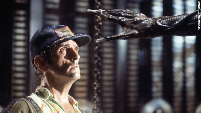 "Harry Dean Stanton as Brett, the engineering technician who encounters the alien aboard the spacecraft Nostromo in ""Alien."" Ash, the science officer on the ship, turns out to be an android that was ordered to return the alien organism to Earth for potential weapon usage."